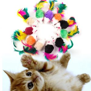 Funny Mini Mouse Toys Set for Cats